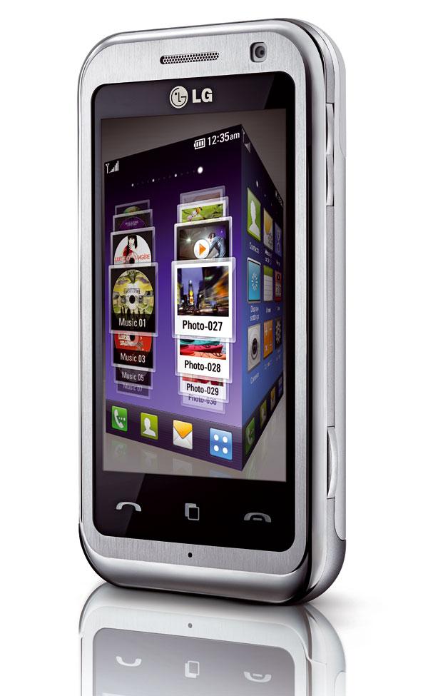 LG Arena km900 pantalla touch e interfaz