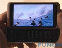 Video Nokia E7 reproduciendo un MKV a 720p