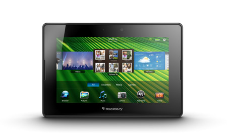 blackberry playbook en México pantalla de 7 pulgadas