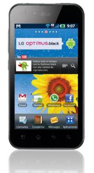 LG Optimus Black P970 ya en Telcel