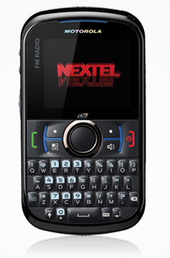Motorola i475 con Nextel México pantalla y teclado QWERTY