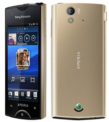 Xperia Ray gold, camera HD