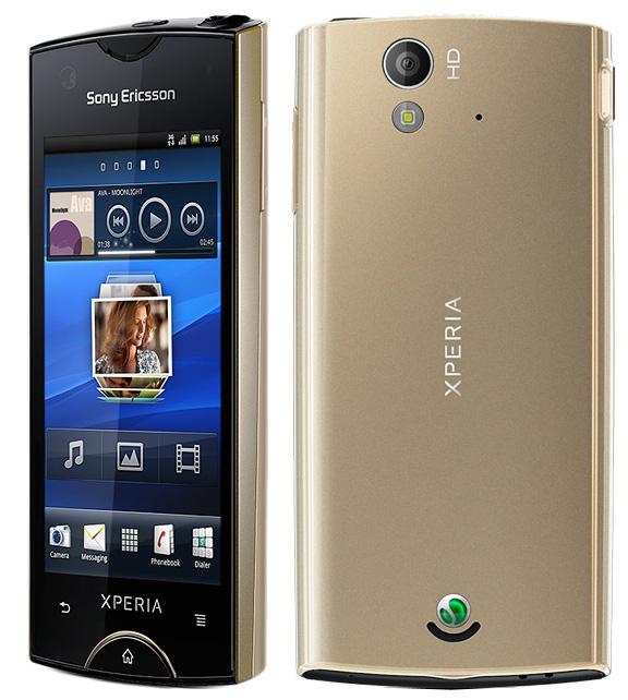 Xperia Ray Gold camera HD