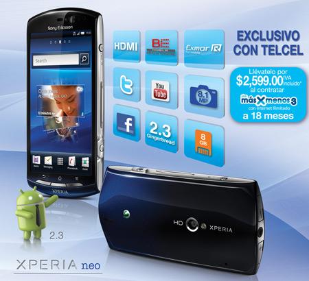Sony Ericsson Xperia Neo en México