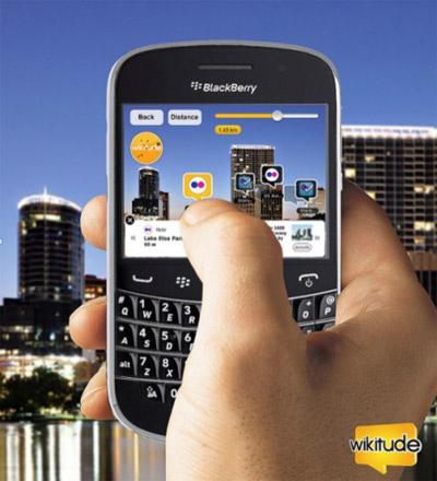 Wikitude para BlackBerry Bold 9900/9930 une a los amigos de BBM por medio de realidad aumentada