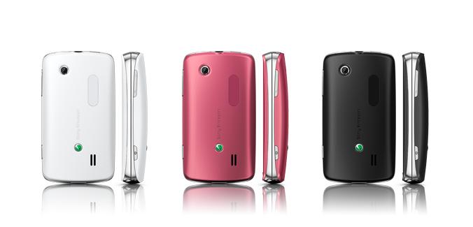 Sony Ericsson txt pro en México, rosa, negro y blanco