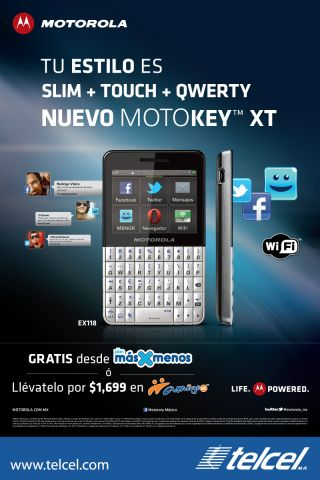 Motokey XT EX118 con Telcel