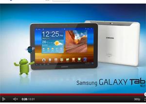 Video Samsung Galaxy Tab 10.1 en México la más ligera