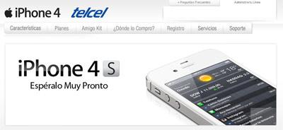 iPhone 4S en México el 28 de octubre Telcel