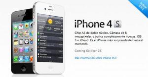 4 millones de iPhone 4S vendidos el fin de semana