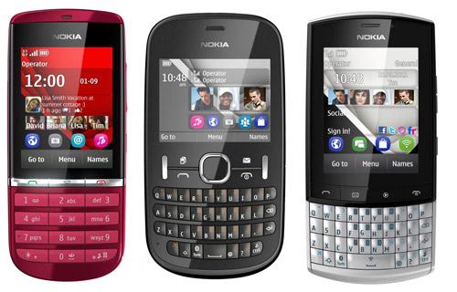 Nokia Asha Series 200, 201, 300 y 303