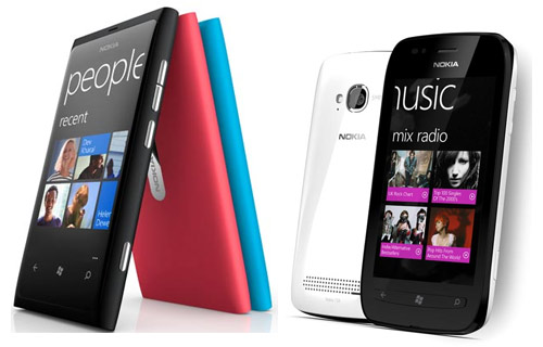 Nokia Lumia 800 y Lumia 710 con Windows Phone