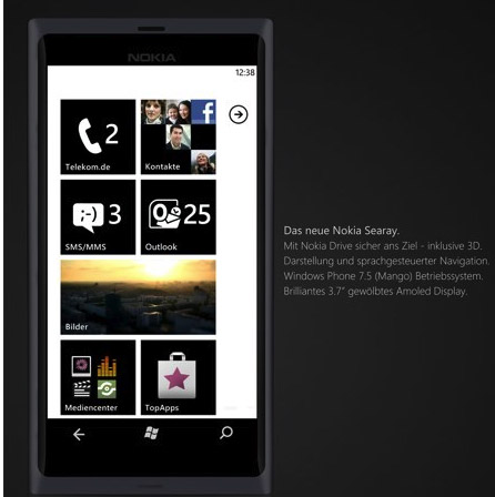 Nokia Ace, Sea Ray y Sabre con Windows Phone Mango
