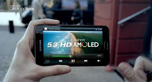 Samsung Galaxy Note pantalla de 5.3 pulgadas