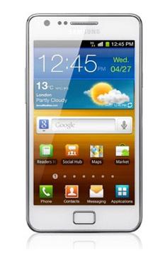 Samsung Galaxy SII en color blanco ya con Telcel