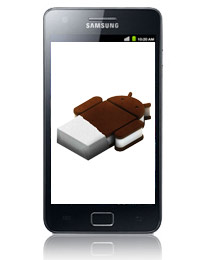 Samsung Galaxy S II con Android Ice Cream Sandwich