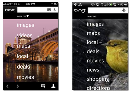 Bing llega a Android y al iPhone (iOS)