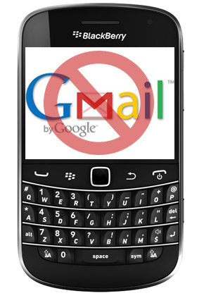 Blackberry Bold 9900 gmail cancelado