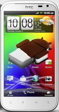 HTC Sensation XL con Android Ice Cream Sandwich