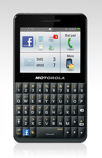 Motorola Motokey Social un teléfono Facebook