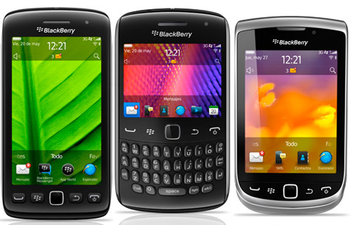 BlackBerry Curve 9360, Torch 9810 y 9860