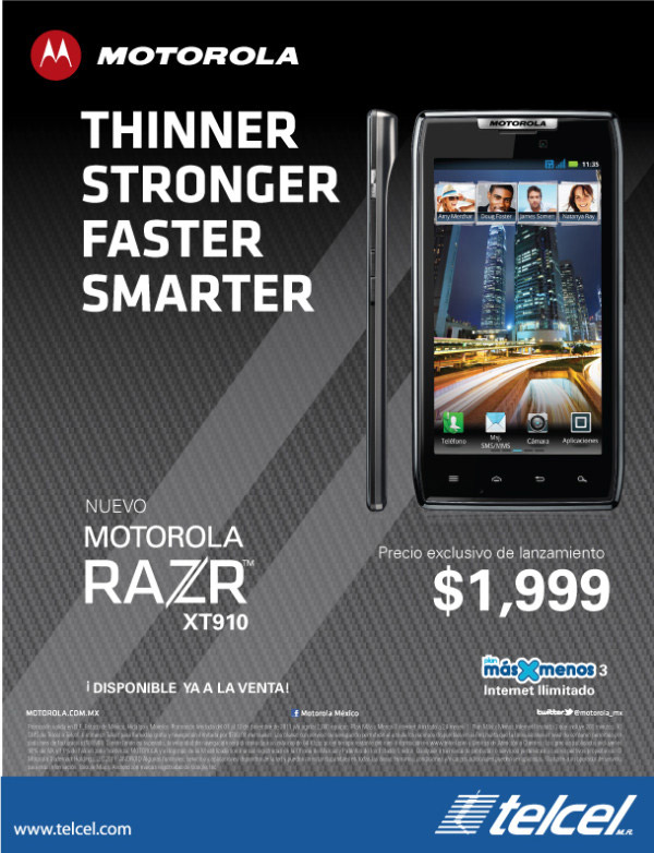 Motorola RAZR en Telcel México