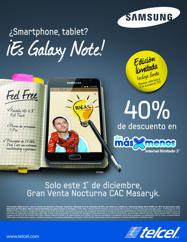 Samsung Galaxy Note Telcel