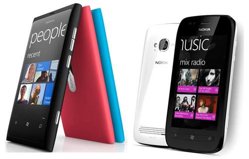 Nokia Lumia 800 y Lumia 710
