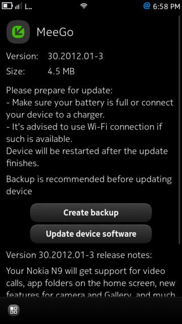 Nokia N9 MeeGo actualización