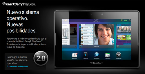 BlackBerry PlayBook OS 2.0 disponible hoy