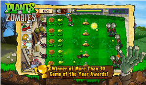 Plants vs Zombies en BlackBerry PlayBook