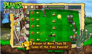 Plants vs Zombies en BlackBerry PlayBook