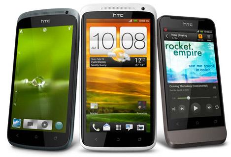 HTC One X, One V y One S