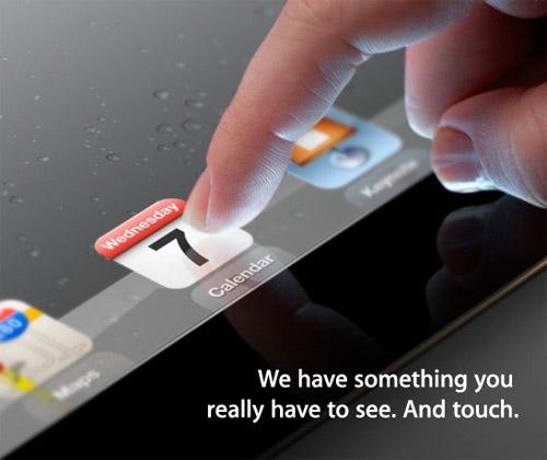 Apple iPad 3 invitación