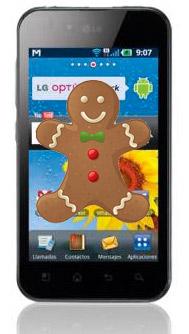 LG Optimus Black actualización a Android Gingerbread