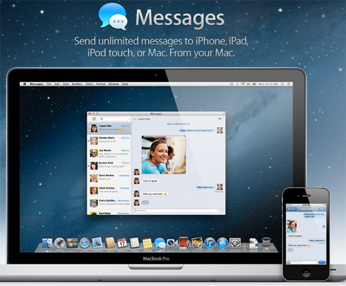 Mac OS X Mountain Lion iMessages