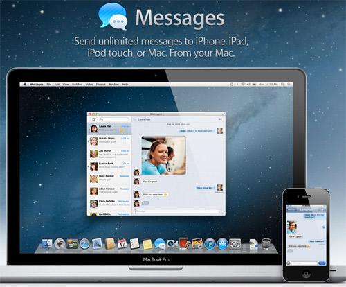 Mac OS X Mountain Lion iMessages