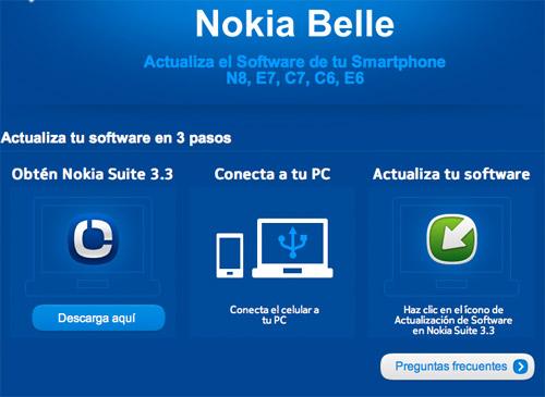Nokia Belle instalación paso a paso