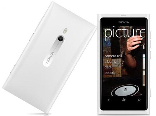 Nokia Lumia 800 color blanco