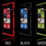 Nokia Lumia 800 en verde y rojo se muestran en comercial