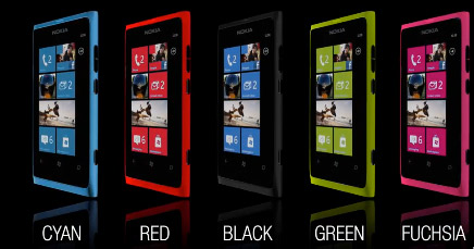 Nokia Lumia 800 colores