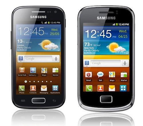 Galaxy Ace 2 y Galaxy Mini 2