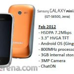 Galaxy mini 2 se filtran imagen y algunas especificaciones