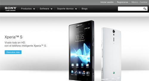 Sony Mobile sitio web México
