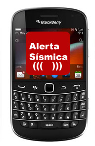 Aplicación  Alerta Sísmica para iPhone, iPad y BlackBerry