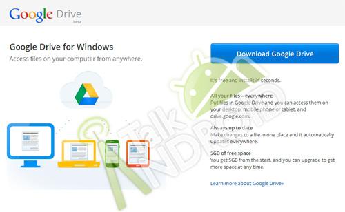 Google Drive llegará con 5 GB gratis y versiones móviles