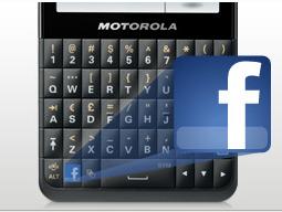 Motorola Motokey Social tecla dedicada a Facebook