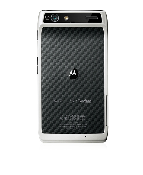 Motorola RAZR en blanco