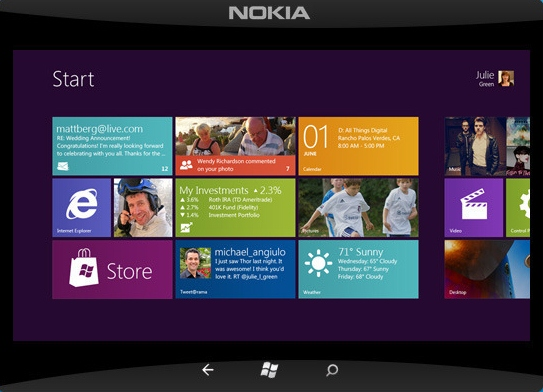 Nokia tablet con Windows 8 Qualcomm