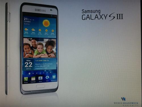 Samsung Galaxy S III primer imagen